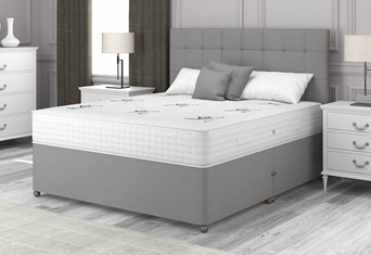 Natural Choice 6000 Divan - 4'6'' x 6'3'' Double Platinum