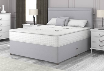 Pillow Top 1000 Divan - 4'6'' x 6'3'' Double Grey