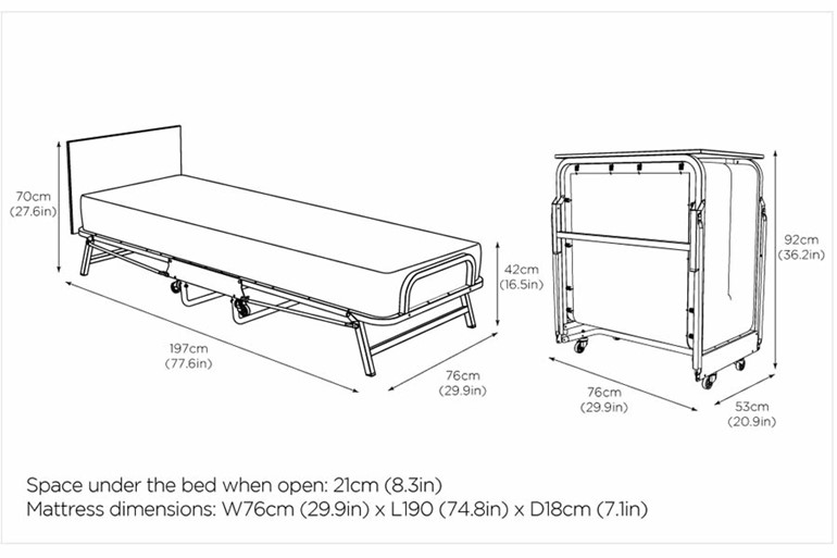 Cromford Folding Bed