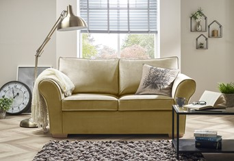 New England Fabric Sofabed - 2 Seater Fudge