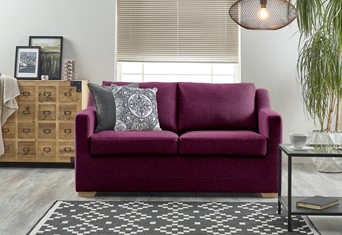 Seattle Fabric Sofabed - 2 Seater Fushia