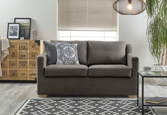 Seattle Fabric Sofabed - 3 Seater Slate