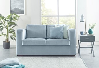 Denver Fabric Sofabed - 2 Seater Skyblue