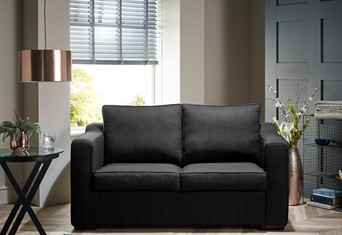 Washington Fabric Sofabed - 2 Seater Charcoal