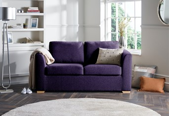 London Fabric Sofabed - 2 Seater Purple