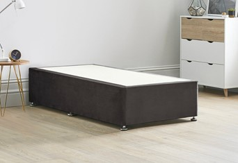 Reinforced Divan Bed Base - 3'0'' x 6'3'' Single Charcoal
