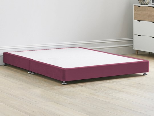 Low Divan Contract Bed Base On Chrome Glides