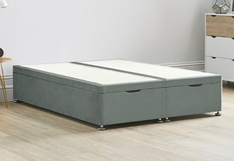 Ottoman Storage End Lift Divan Contract Bed Base - 5'0'' King Size Platinum