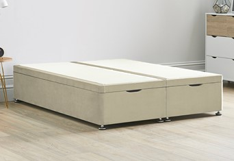 Ottoman Storage End Lift Divan Contract Bed Base - 6'0'' Super King Stone