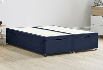 Ottoman Storage End Lift Divan Contract Bed Base - 4'6'' Standard Double Sapphire
