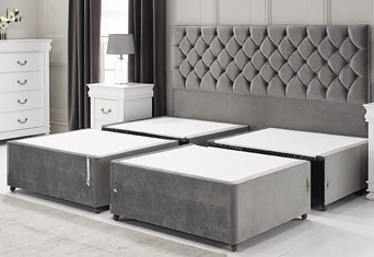 Quarterised Contract Bed Base - 4'6'' x 6'3'' Double Platinum